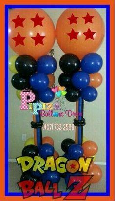 Risultati immagini per dragon ball z cupcake toppers Goku Birthday, Ball Birthday, 1st Birthday Parties, Birthday Ideas, Dragon Party, Dragon Z, Blue Dragon, Balloon Decorations, Birthday Decorations