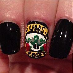 Gun N Roses Nails