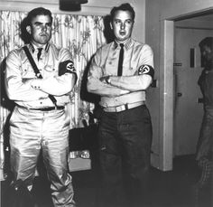 Ralph Forbes (left) and Robert Ernest Giles (right) of the Glendale Neo-Nazis, a white supremacist group, 1965. Glendale Central Public Library. San Fernando Valley History Digital Library.