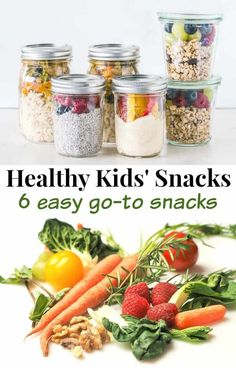 6 easy go-to snacks that your kids will want to eat. These healthy kids' snacks make it easy to encourage healthy habits with your children. Healthy School Snacks, Healthy Eating Recipes, Nutritious Meals, Healthy Kids, Whole Food Recipes, Healthy Habits, Healthy Living, Chick Fil A Sauce, Bite Size Food