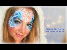 Frozen Butterfly - Makeup and Face Painting - YouTube