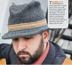 3 Vintage-Inspired Men's Crochet Hat Patterns: Classic Fedora