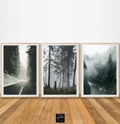 Foggy Forest, Forest Art, Wall Art Prints, Framed Prints, Poster Prints, Decoration, Art Nature, Gallery Wall, Fine Art