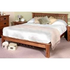 Rustic Oak Wooden Bed Frame