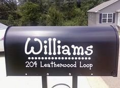 Personalized Mailbox Decal. $12.00, via Etsy.