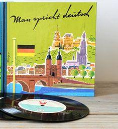 Man spricht Deutsch Sprachkurs 2x Buch & 12x Schallplatte Visaphon 1963 Unikat German Language, Lp Vinyl, Ebay, Vinyl Records, Language, Deutsch, Knowledge, Book, Learning