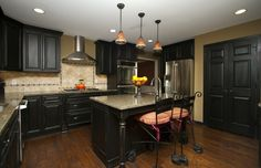 Dark, Oil Stain Cabinetry