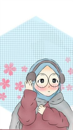 Muslim Pictures, Hijab Drawing, Islamic Cartoon, Anime Muslim, Hijab Cartoon, Muslim Girls, Fantasy Illustration, S Pic, Islamic Art