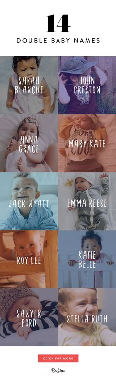 14 Double Baby Names That Are Too Cute for Words via @PureWow