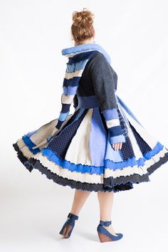 Sweater coat Hooded dress coat Fairy sweater by MELINMADE on Etsy
