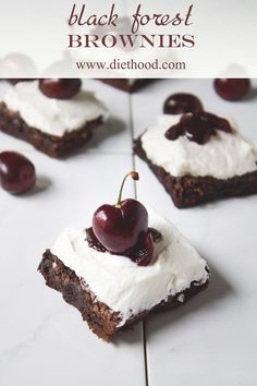 ⚓Black Forest Brownies