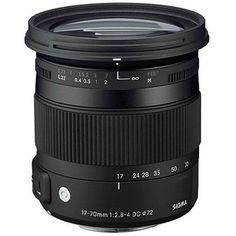 Sigma 17-70mm f/2.8-4 DC Macro OS (Optical Stabilizer) HSM Lens for Nikon DSLR Cameras - USA Warranty