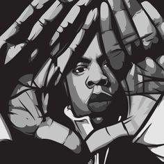 scaredofmonsters: The Carters. Arte Hip Hop, Hip Hop Art, Rapper Art, Music Painting, Celebrity Drawings, Black Artwork, Dope Art, Artist Art, Urban Art
