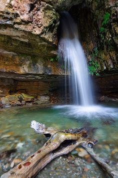 Waterfall in Sardinia, Italy