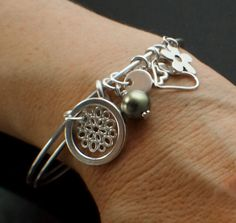 Charmed Sterling Silver Bangle Kit by UnkamenSupplies on Etsy