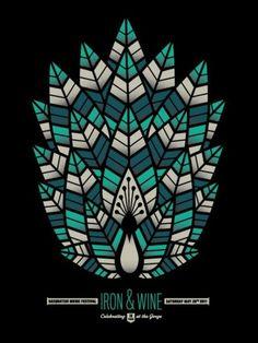 - Iron & Wine concert poster artwork. #music #gigposters #posterart #artwork #ironandwine #musicart http://www.pinterest.com/TheHitman14/music-poster-art-%2B/