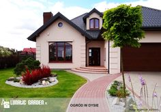 ogród przed domem inspiracje - Szukaj w Google Exterior House Colors, Interior And Exterior, Backyard Makeover, Front Yard Landscaping, Home Deco, Curb Appeal, House Plans, Photo Wall, House Design