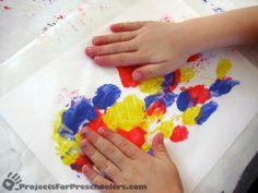 Wax Paper Art for kids