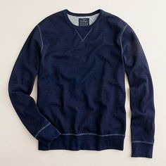J.CREW INDIGO FLEECE CREWNECK SWEATSHIRT