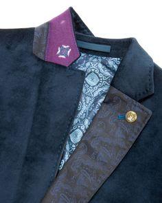 Velvet jacket - Navy | Blazers | Ted Baker UK