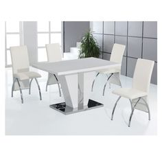Inspirational White Gloss Dining Table 140cm