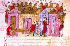battle of sasireti | Varangian Guardsmen, an illumination from the 11th century chronicle ...