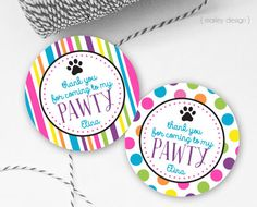 Puppy Party Favor Tags Printable Dog Party Favor Tags Puppy Favor Tags Dog Favor Tags Puppy Birthday Dog Birthday Decor Thank You Tags Label by MarleyDesign on Etsy https://www.etsy.com/listing/472048871/puppy-party-favor-tags-printable-dog