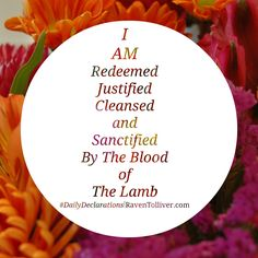 #DailyDeclarations I AM Redeemed, Justified, Cleansed and Sanctified by the Blood Of The Lamb. ✡They defeated him because of the Lamb's blood and because of the message of their witness.Even when facing death they did not cling to life.-Revelation 12:11 ✡But if we are walking in the light, as he is in the light, then we have fellowship with each other, and the blood of his Son Yeshua purifies us from all sin.-1 John 1:7 #Blessed #Scriptures #SpeakLife #WordPower #Affirmation #Bible…