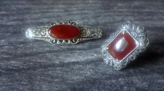 My Vesties Wish List Item - Vintage Carnelian With Marcasites Sterling by CrownofLifegems