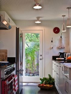 school house electric factory - lighting in kitchen instead of fluorescents!