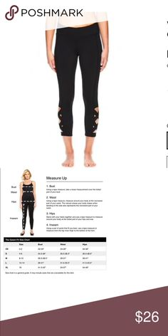 Women's OM Lotus Yoga Capri Leggings Active lifestyles call for these women's Gaiam yoga capri leggings.    PRODUCT FEATURES Moisture-wicking fabric Strappy detail at calf Hidden waistband pocket Tag free  FIT & SIZING 22-in. approximate inseam Midrise sits above the hip Compressive fit  FABRIC & CARE Polyester, spandex Machine wash  *Covershot is the same item just a different color (Mine are a Charcoal Gray NOT black) ✌🏻Price FIRM unless bundled Gaiam Pants Leggings