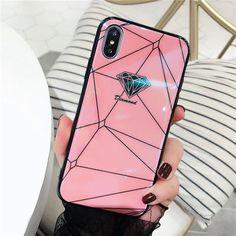 Diamond Geometry Splice iPhone Case - Pink / iPhone 8 Plus / 7 Plus