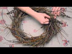 DIY: Christmas wreath | Новогодний венок в стиле шебби шик - YouTube