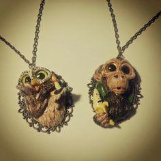 Owl and monkey