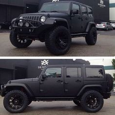 Jeep Wrangler Black Matte I like it!! I WANT I WANT I WANNNNNNT! 16TH BIRTHDAY SOON!!!