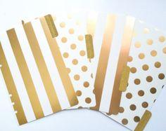 Gold A5 Filofax Dividers, Gold Kikki K Large Dividers, Set of 4 Dividers, Metallic A5 Dividers, Tabbed Dividers Planner