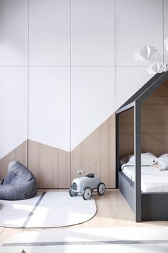 Scandinavian Kids room design #KidsBedroomFurniture