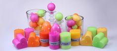 Käsintehdyt kotimaiset kynttilät karkkiväreissä  #puttipaja #kynttilä #karkkivärit #karkkikauppa #herkkuvärit #avainlippu