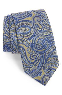 David Donahue Paisley Silk Tie available at Silk Suit, Elegant Man, Long Ties, Sharp Dressed Man, Tie Knots, Gentleman Style, Pocket Square, Silk Ties, Floral Tie