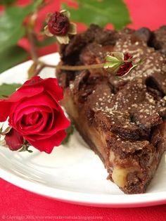 Every Cake You Bake: Szarlotka czekoladowa Steak, Apple Cakes, Food, Apple Tea Cake, Chocolate, Bakken, Essen, Steaks, Meals
