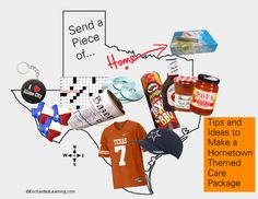Tips and Inspiration for a Hometown themed care package!