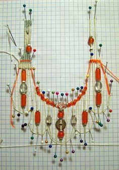 Needleweaving warp set-up