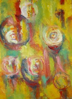"""This original abstract oil painting is entitled """"Lumiere"""""""