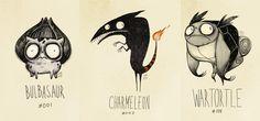 geek, pokemon versão, art, la tim, tim burton, burton quot, design, burton pokemon, illustr