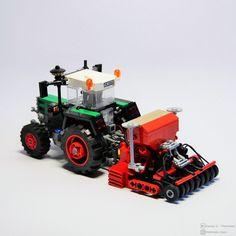 Lego City Sets, Lego Sets, Lego Projects, Farm Projects, Lego Machines, Lego Truck, Micro Lego, Toy Display, Farm Toys