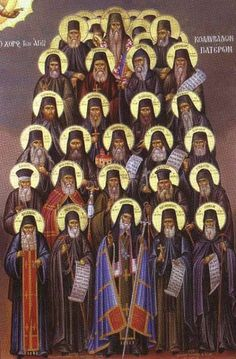 The great teachers of the Church and of the Greek nation, Makarios Notaras, Nikodemos of the Holy Mountain and Athanasios of Paros, . Religious Icons, Religious Art, The Holy Mountain, True Faith, Byzantine Icons, Orthodox Christianity, Orthodox Icons, Russian Art, People Art