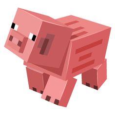Minecraft Pig - Minecraft, Pubg, Lol and Minecraft Poster, Minecraft Meme, Minecraft Pictures, Minecraft Party, Cake Minecraft, Minecraft Crafts, Minecraft Ideas, Minecraft Skins, Minecraft Cupcake Toppers
