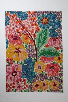 Ashley Longshore designed-Embroidered Giverny Rug  #anthropologie