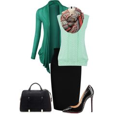 """Green"" by jfkaulback on Polyvore"