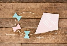 kite wedding invitation by ello there #handmade #wedding #invitation